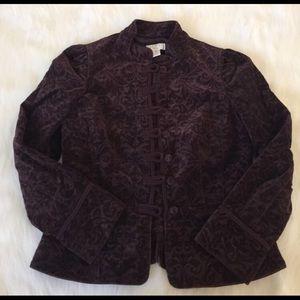 Jackets & Blazers - Velour burgundy jacket
